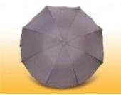 Eisbärchen Sonnenschirm mit Fiberglas-Speichen und UV-Schutz, grau