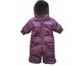 Kids case Baby Mädchen Schneeanzug mit Fellfutter/Schneeoveral,lila,Größe 62