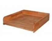 Praktischer Wickeltischaufsatz 60x70cm, Buche geölt, Wickelaufsatz für Waschmaschine oder Trockner