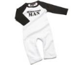 Nappy Head Kleidung für kleine Jungen - Demolition Man (Abbruchkommando) Schlafanzug blauer Strampelanzug/Babybody 0-3 Monate