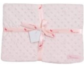 INTERBABY 0881-02 Microfase Babydecke 80 X 110 cm, rosa