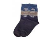 Weri Spezials Kinder Socken, Mexico Travel Motiv in Jeans, Hochwertige merc. Baumwolle, Gr.35-38 (9-10 Jahre)