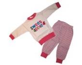 Baby Schlafanzug 2 teilig Weiß/Pink Größe 68 Sweet apple