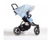 Sonnenschutz Sonnendach Sonnensegel Sonnenverdeck Sonnette® single UPF 80+ für Kinderwagen Ava soft blue