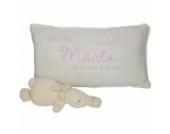 Kissen mit Namen, Datum, Geburtsort und Bedeutung des Namens in rosa personalisiert - Geburts oder Taufgeschenk - personalisiertes Geschenk - 45cm x 25cm