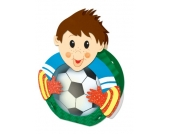 Laternenbastelset Fußballer