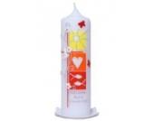 Taufkerze Frühling (gelb/rot) 25x7cm mit Karton, wird NUR auf Kundenwunsch für Sie gefertigt. Bei uns bekommen sie keine Massenware. Jede Kerze für sich, ist ein Unikat.