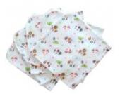 Babymajawelt 13576 Mull Waschlappen Flowers 40/40, 5er Pack