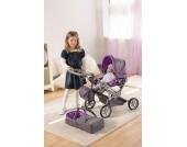 Kombi-Puppenwagen Mioux grau/lila