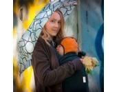 manduca by MaM Cold Weather Insert (Fleece Cover) > Black < Tragecover für Babytrage und Tragetuch, Schalkragen für Zwei (Baby & Mutter/Vater), Polar-Fleece, Ideal für Herbst & Frühjahr, schwarz
