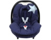 Maxi Cosi Bezug für die Maxi Cosi Citi Babyschale in blau mit Punkten